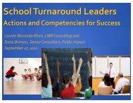 School Turnaround Leaders
