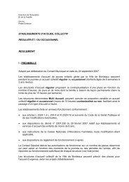 Règlement accueil collectif et occasionnel - Bordeaux