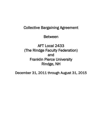 The Rindge Faculty Federation - eRaven - Franklin Pierce University