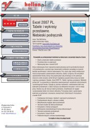 Excel 2007 PL. Tabele i wykresy przestawne. Niebieski ... - Structum