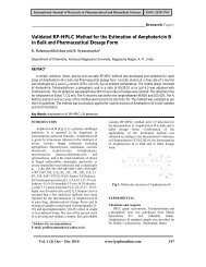 Validated RP-HPLC Method for the Estimation of Amphotericin B in ...