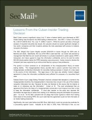 Lessons From the Cuban Insider Trading Decision - Fried Frank