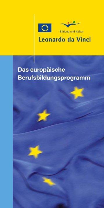 Das europäische Berufsbildungsprogramm