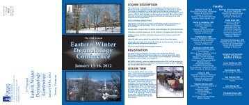 winter derm2012.qxp:Layout 1 - Continuing Medical Education
