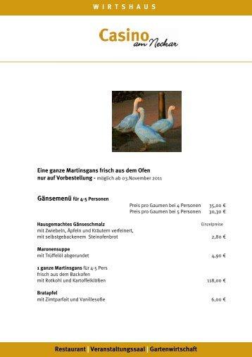 WIRTSHAUS Restaurant | Veranstaltungssaal | Gartenwirtschaft