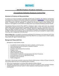 Occupational Asbestos Exposure Control Plan - Sonic Drilling Ltd.
