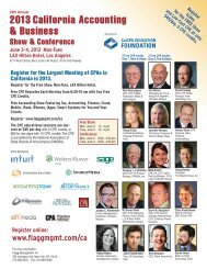 2013 Conference Program - Flagg Management Inc