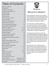 student central - Academic Calendar - University of Western Ontario