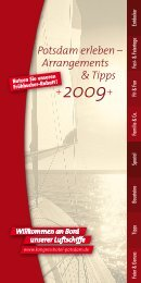 Potsdam erleben – Arrangements & Tipps 2009 - eibtm