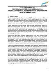 Kerangka Acuan Media Warga - P2KP