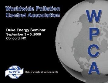2008 WPCA / Duke Energy Seminar