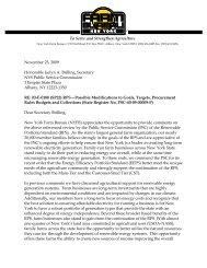 November 23, 2009 Honorable Jaclyn A. Brilling, Secretary NYS ...