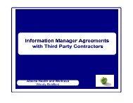 Information Manager Agreement - Verney Conference Management