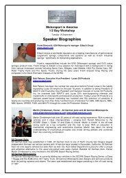 Speaker Biographies - Motorsport Industry Association