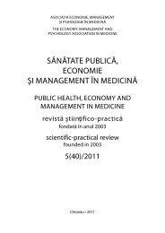 5(40)/2011 - Şcoala de Management în Sănătate Publică