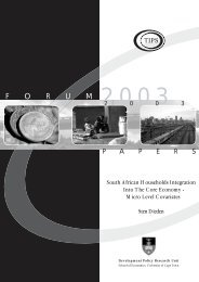 South African Households Integration Into The Core Economy - tips