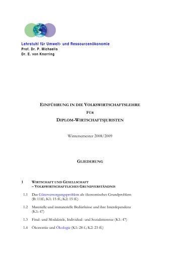 einführung in die volkswirtschaftslehre - WiWi - Universität Augsburg