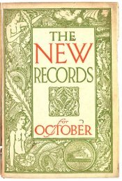 His Master's Voice New Records Catalogue October 1915