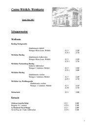 Casino Wittlich: Weinkarte