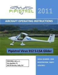 Pipistrel Virus Aircraft Operating Instruction - Salsa Aviation