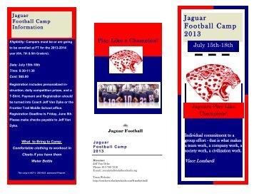 Jaguar Football Camp 2013