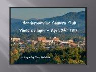 Photo Album - Camera Club of Hendersonville