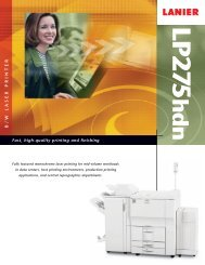 Fast, high-quality printing and finishing B/W LASER PRINTER - Lanier