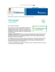 ION Solutions' Important Announcements for October 30, 2012