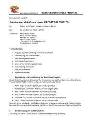 30. Mai 2011 - Benefiz Motocross Fricktal
