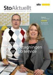 Se StoAktuellt nr 2 2013 - Sto Scandinavia AB