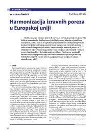 Harmonizacija izravnih poreza u Europskoj uniji - Ekonomski Fakultet