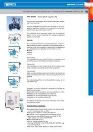 automatische regeltoestellen / vannes de ... - Watts Industries
