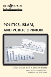 POLITICS, ISLAM, AND PUBLIC OPINION - Democracy Project