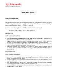 FRANÇAIS : Niveau 2