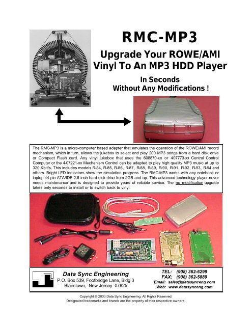 Rmc-mp3 - CD Changer Interfaces and Conversion Kits for Jukeboxes