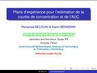Plans d'expérience pour l'estimation de la courbe ... - Mistis - Grenoble