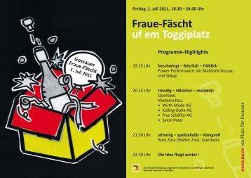 atz Fraue-Fäscht uf em Toggiplatz - Raiffeisen