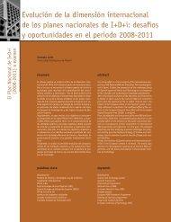 Evolución de la dimensión internacional de los planes ... - Madri+d