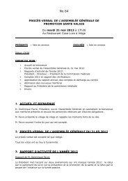 PV Assemblée générale 2013 - Ligue pulmonaire