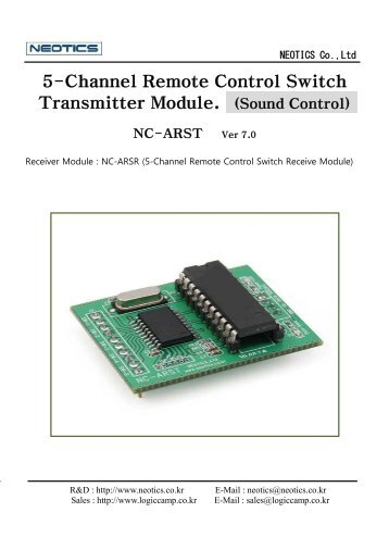 5-Channel Remote Control Switch Transmitter Module. (Sound ...