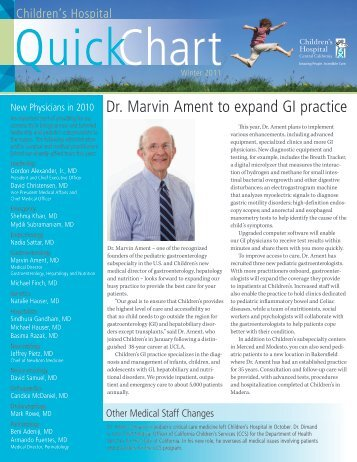 Dr. Marvin Ament to expand GI practice - Children's Hospital Central ...