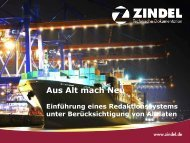 Aus Alt mach Neu - Zindel AG