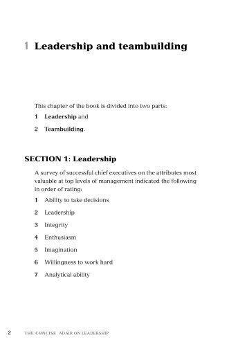 Sample chapter - Thorogood Publishing