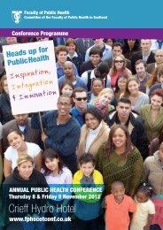 Programme - Making Scotland a Healthier Place