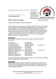 Vorsitzender Bericht des NSJ Vorsitzenden Lehrte, August 2007 ...