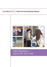 Falls Prevention - Stand Tall, Don't Fall' Model of Care - ARCHI