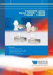 Lockshields valves series 195UM-196UM ... - Watts Industries