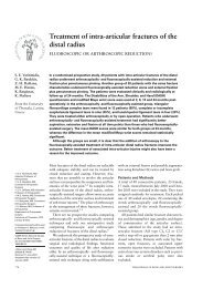 Treatment of intra-articular fractures of the distal radius - Ortho-uth.org