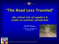 The Road Less Traveled - International Builders' Show