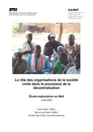 Le rôle des organisations de la société civile dans le ... - nadel